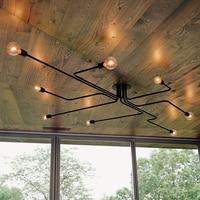 vintage ceiling lights 8 heads retro industrial lamparas de techo restaurant loft modern ceiling lamp bar cafe dining room light