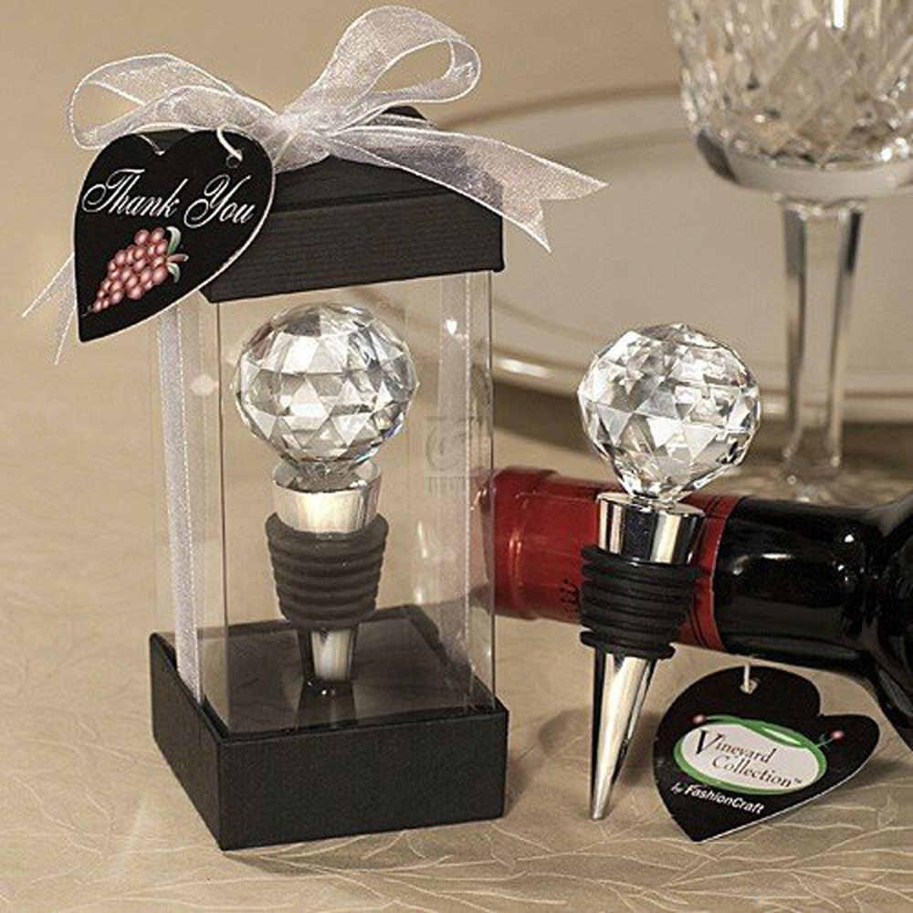 Favor Presente Decoração Casamento Decoração Cristal Rolha De Garrafa De Vinho Festa De Casamento