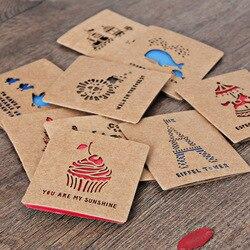 Винтажная стильная выдолбленная поздравительная Почтовая открытка, Подарочная открытка на день рождения, набор карт, открытка с надписью, ...