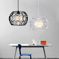 Simple Nordic style pendant lamp office clothing store cafe bar table lamp wrought iron country retro lamp
