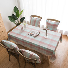 Waterproof Print Tablecloth Rectangle Solid Lace Table Cloth Cotton Cover Outdoor Wedding Party Home Textile Decorative