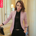 Small Suit Jacket Female 2017 Autumn New Office Ladies Suit Short Blazer Slim Women's Blazer Lapel Plus Size 4XL