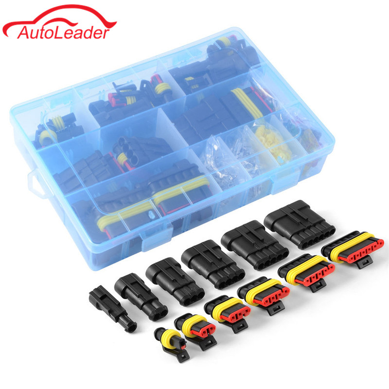 1 Set AMP Kit 1/2/3/4/5/6 Pin Female Male Waterproof Car Electrical Wire Cable Automotive Connector Car Plug Terminal 50 set kit vh3 96 3 96mm 4 pin female 22awg wire with male connector a set include socket plug terminals