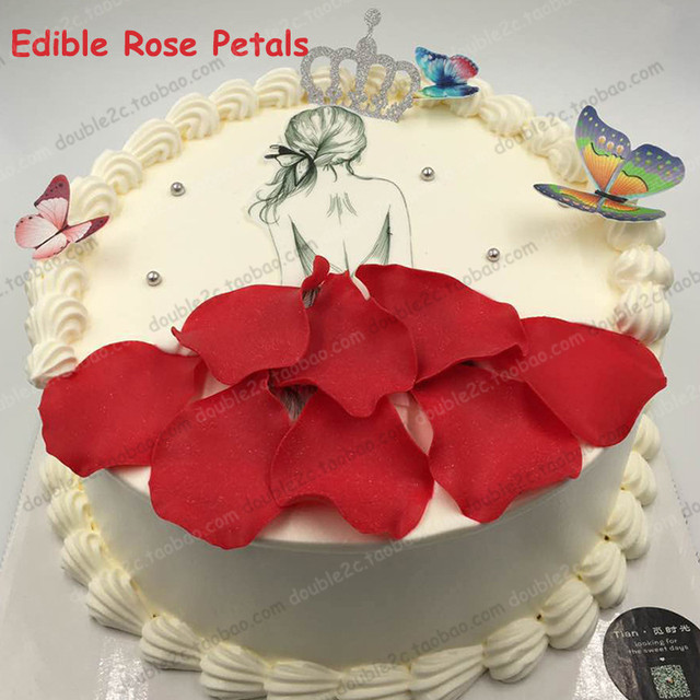 Edible Rose Petals For Cake Decoration128pcs Pack DecoratingEdible Wedding