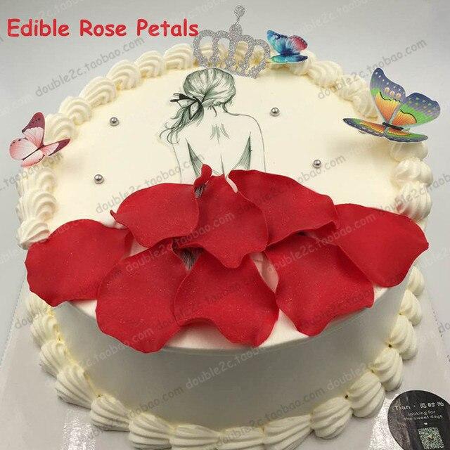 Essbare Rose Blatter Fur Kuchen Dekoration 128 Teile Paket Rose