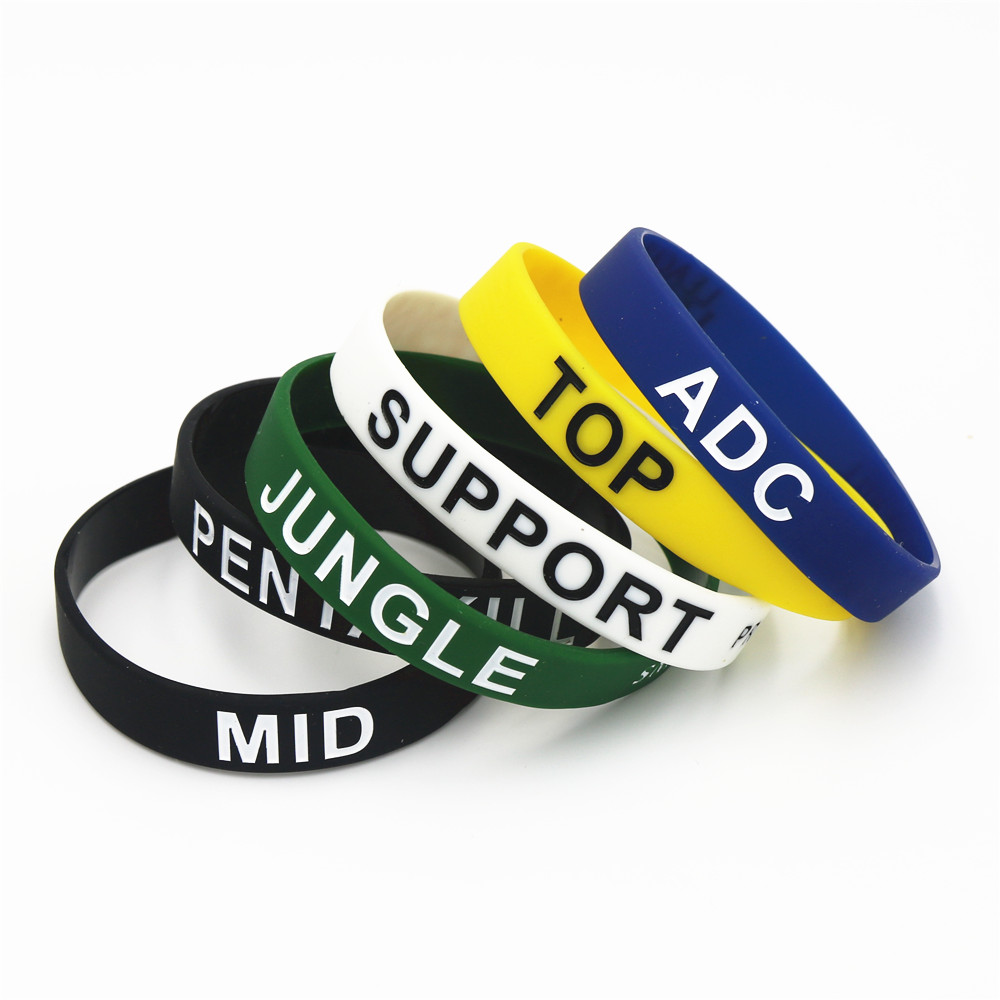 1pc Silicone Game For Lol League Of Legend Dota2 Wristband Silicone Bracelet Bangles Letters Printed Band Gits Wholesale Sh040 Strong Resistance To Heat And Hard Wearing