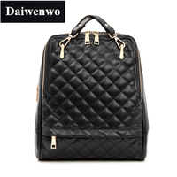 J30 Diamond Lattice Rucksack Genuine Cow Leather Backpack Schoolbag Women S Backpacks Shoulder Travel Bag Plaid