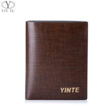 YINTE New Men's Wallet Famous Brand Men Spain Cow Leather Card Wallet Cash Holder Fashion Money Clip Purse Portfolio T8839B
