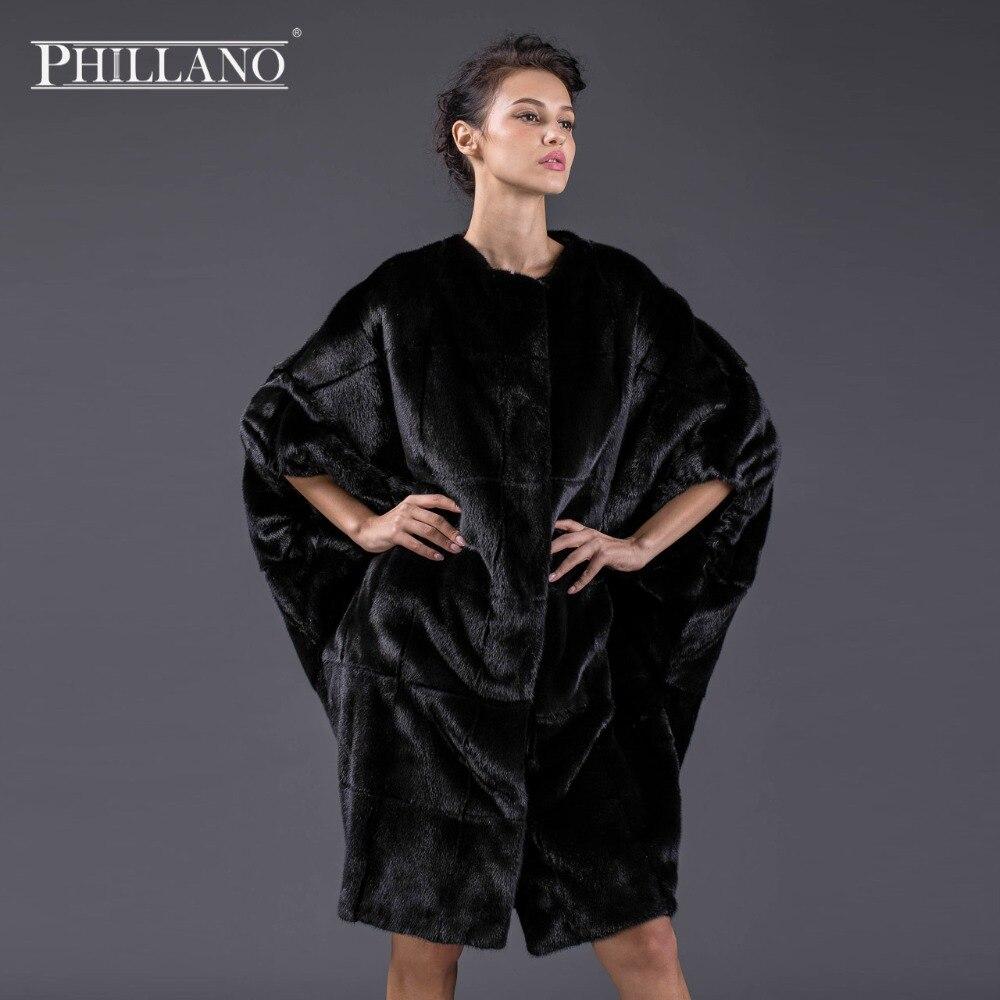 PHILLANO New Premium Women norský oděv přírodní kožešina Batwing rukáv kožich norek Skandinávie Dánsko NAFA YG13092-100