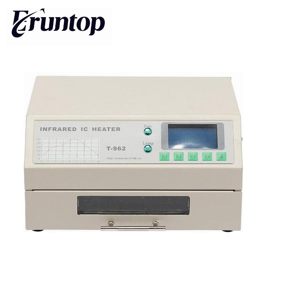 PUHUI T-962 Infrared IC Heater T962 Desktop Reflow Solder Oven BGA SMD SMT Rework Station T 962 Reflow Wave Oven цена