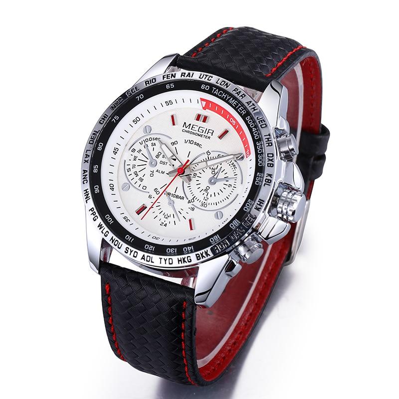 8a0d4f582bf MEGIR Relógios dos homens Top Marca de Luxo Relógio de Quartzo Homens Moda  Casual À Prova D  Água Luminosa Relógio Masculino Relógio de Pulso Relogio  ...