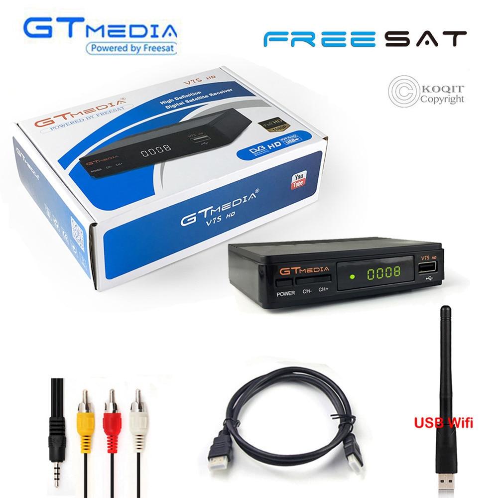 FTA Full HD DVB S2 Digitale GTmedia V7S Satellietontvanger USB Channel Capture TV Tuner Wifi Cline jaar Decoder Biss Vu youtube-in satelliet TV-ontvanger van Consumentenelektronica op  Groep 1