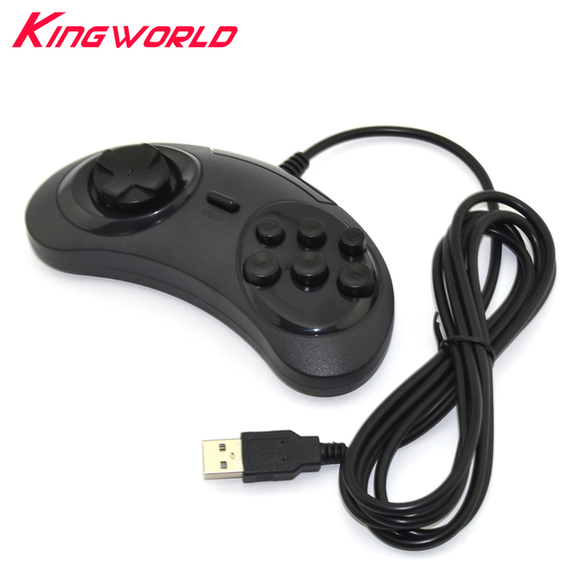 PC MAC ONLY Classic Wired 6 Buttons USB Gamepad Game Controller Joypad Not for SEGA Genesis Mega Drive MD2