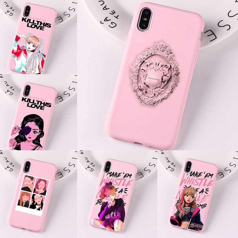 Милый Kill This Love Jennie Blackpink корейский силиконовый чехол для iPhone X XS MAX XR 8 7 6 6 S Plus Cover Capa Funda