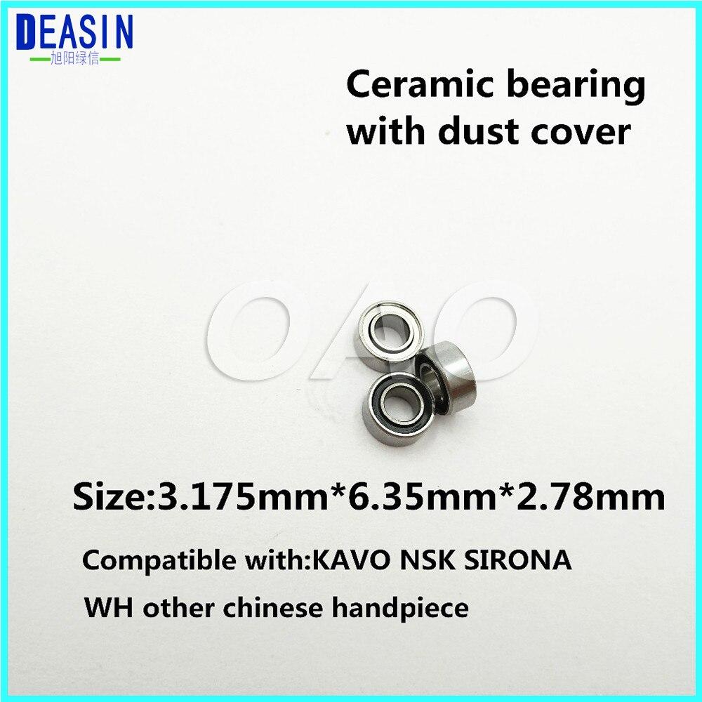 Купить с кэшбэком High Quality 10pc 3.175x6.35x2.78mm dental ceramic bearing  Ceramic Ball 7/8 beads dental hand piece accessories
