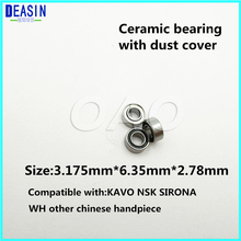 High Quality 10pc 3.175x6.35x2.78mm dental ceramic bearing  Ceramic Ball 7/8 beads hand piece accessories