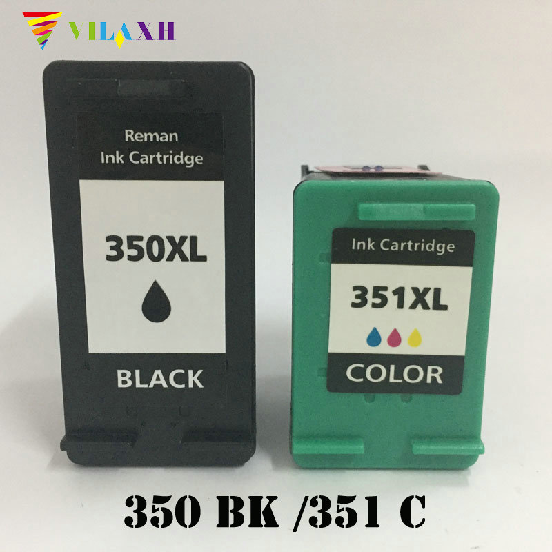 Vilaxh 350 <font><b>351</b></font> xl Compatible Ink Cartridge Replacement for <font><b>HP</b></font> 350XL 351xl For Photosmart C4200 C4480 C4580 C4380 C4580 Printer image