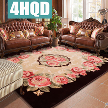 European roses wedding carpet living room coffee table bedroom sofa rectangular blanket blanket machine washable nordic style large carpet living room sofa coffee table blanket simple modern bedroom room household machine washable