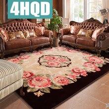 Фотография European roses wedding carpet living room coffee table bedroom sofa rectangular blanket blanket machine washable