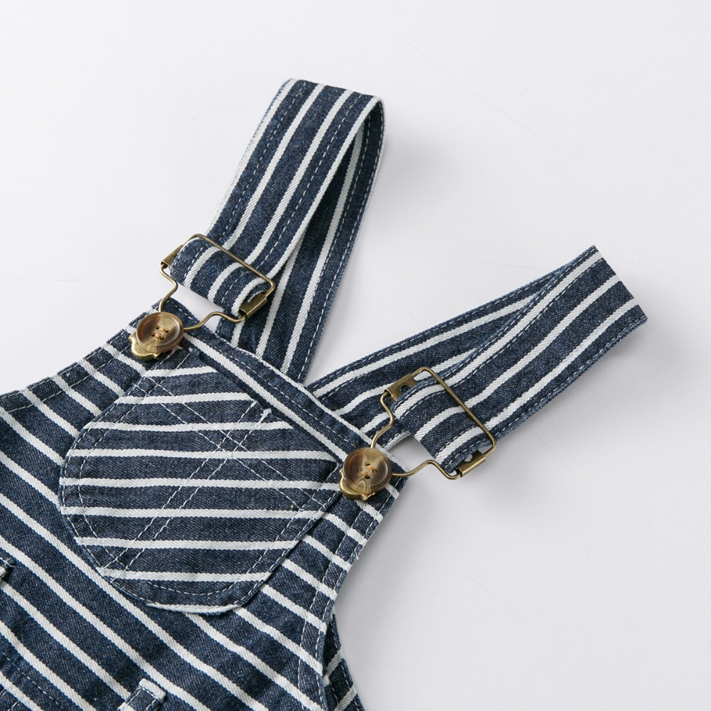 6c9ba6ece17d1 US $10.66 41% OFF Carters Gentleman Boy Clothing Set Baby Boy Outfit Boy T  shirts Cotton Birthday Shirt + Boys Overalls Stripe Baby Romper 3Pcs 2Y-in  ...