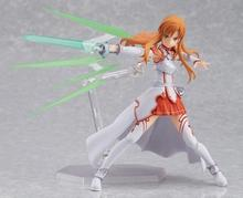 Anime Sword Art Online S.A.O Figma Asuna FIghting Version 15CM PVC Action Figure Doll Toys