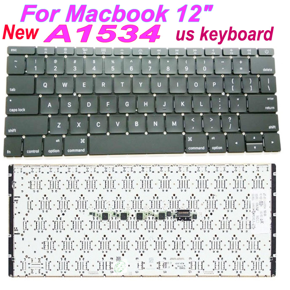 Nouveau A1534 clavier US pour Macbook Pro Retina 12