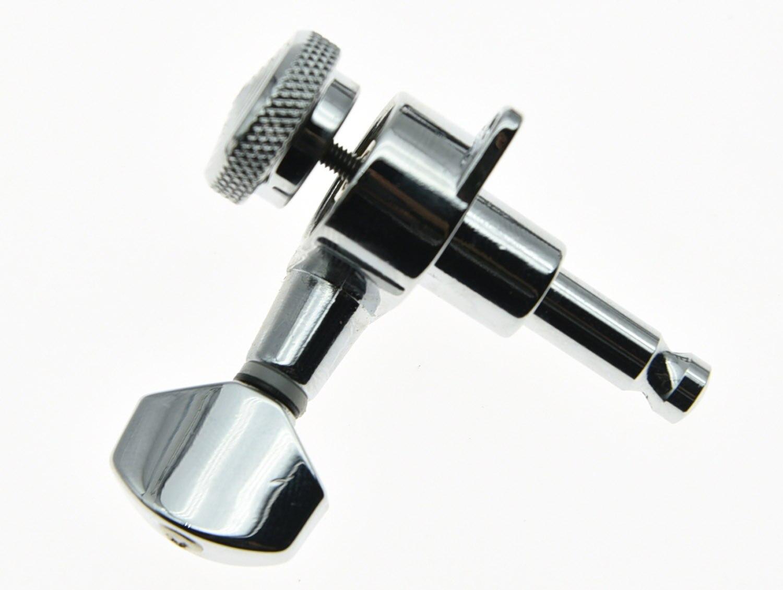 KAISH 3L3R clés de réglage de verrouillage accordeurs de guitare chevilles têtes de Machine Chrome - 4