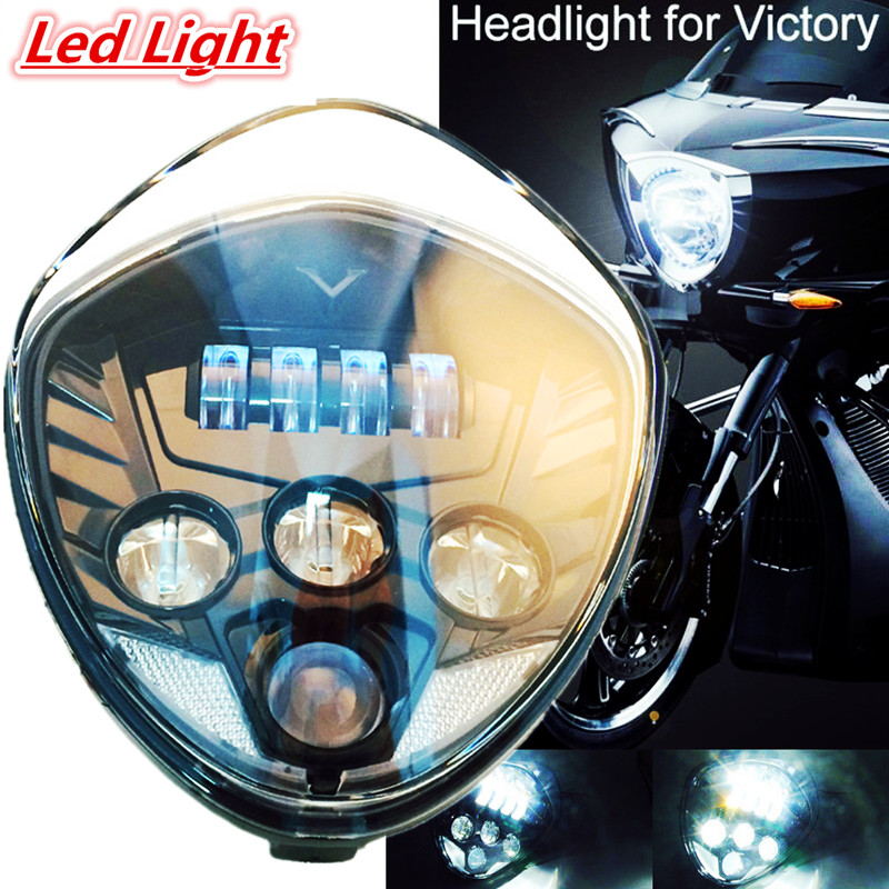 1 PCS Victory Motorcycle headlight Cross Led headlight kit Black for 2007-2015 Cross Country Tour, Cross Country, Cross Roads baby boys clothing set boy long sleeve t shirt and cowboy autumn winter fashion clothing sets 2017 new arrival hot sell sets
