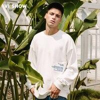 VIISHOW New Sweatshirts Men Hoodies Brand Clothing Letter Printed Casual Sweatshirt Male Top Quality Tracksuit White