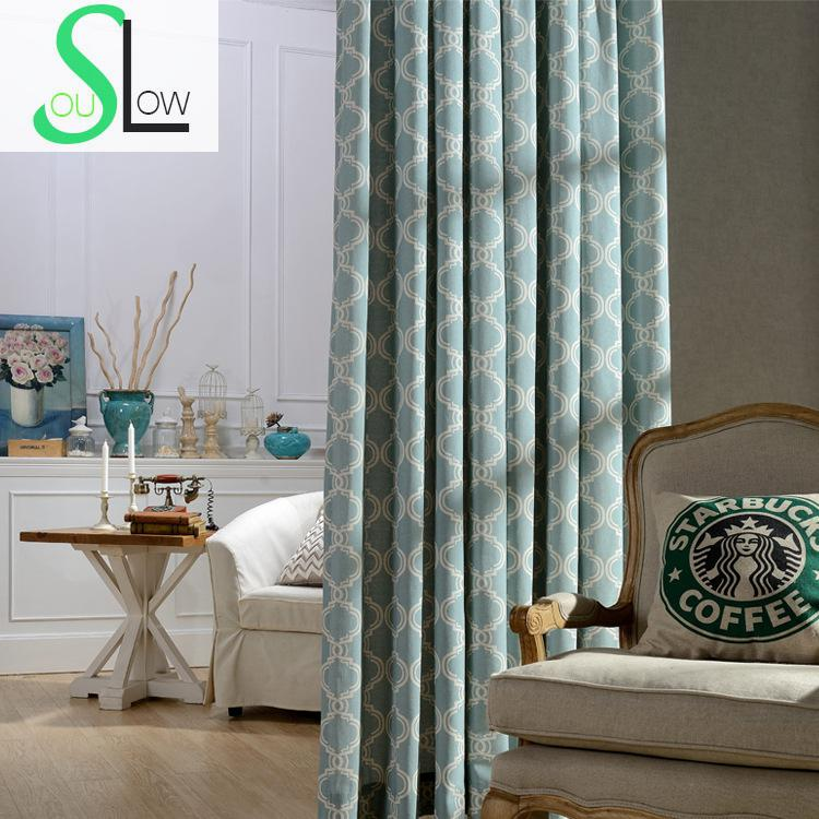 beige light green brown celebrate the simplicity modern print chinese wind curtain cloth geometric quality curtains