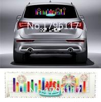 90x25cm Car Sticker Music Rhythm LED Flash Lamp Sound Activated Equalizer Car decration Sticker Glow Flash Panel LED car Light