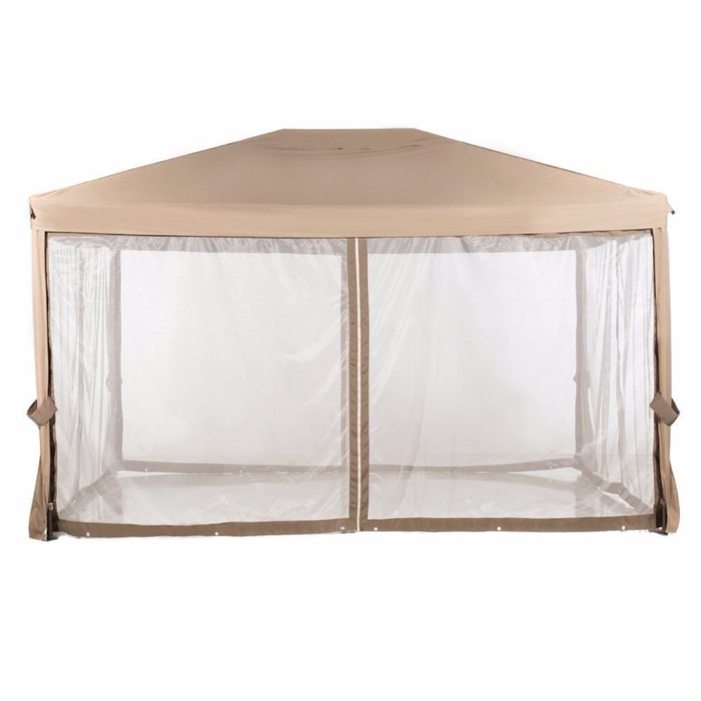 Abba Patio 10x12 Feet Fully Enclosed Garden Gazebo Canopy With Mosquito Netting Brown In Gazebos From Home On Aliexpress