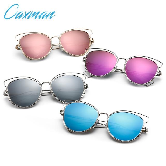 CAXMAN Cat eye Women Sunglasses New Brand Design Mirror Vintage Fashion sun glasses ladies Eyewear