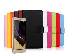 Новый 2015 Натуральная Кожа Case Для Huawei Honor 7 Vintage Телефон сумка Кошелек Стиль С Подставкой и Бумажники, Держатели Бесплатная доставка IDOOLS
