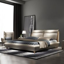 2d02e4e54dfc Cama de diseño moderno de cuero genuino de dimastia de RAMA, cama de diseño  moderno, muebles de dormitorio de tamaño queen