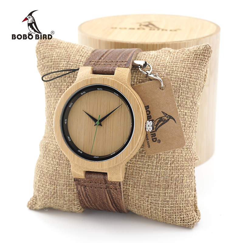 BOBO BIRD Men's Wood Watches Simple Design Men Top Brand Wooden Bamboo quartz Wrist Watches gifts custom logo купить недорого в Москве