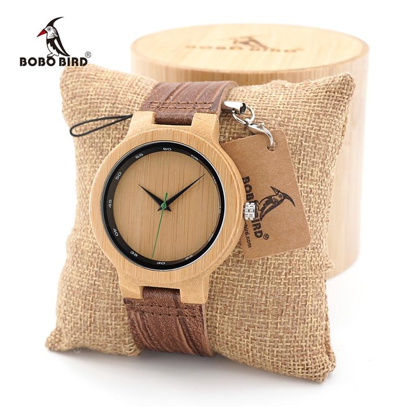 BOBO BIRD Men's Wood Watches Simple Design Men Top Brand Wooden Bamboo quartz Wrist Watches gifts custom logo mould logo custom services 12 cavities english character simple pattern brand identity