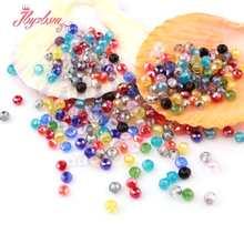 Mieszane kolory 50pc Rondelle Austria kryształowe szklane koraliki fasetowane koraliki dystansowe luzem do tworzenia biżuterii naszyjnik DIY koraliki Breaclet 3*4mm