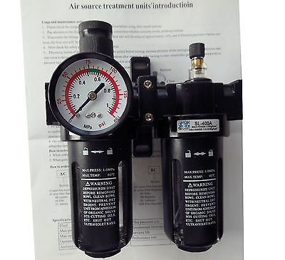 SFC-400 G1/2 Pneumatic Air Filter Regulator Lubricator SL400A BSP 1/2SFC-400 G1/2 Pneumatic Air Filter Regulator Lubricator SL400A BSP 1/2
