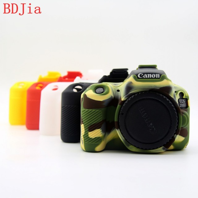 2018 High Quality Silicone Camera Case Bag Cover for Canon 200D Dsrl