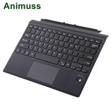 Animuss Ultrathin Keyboard Microsoft Surface Wireless Bluetooth Touchpad Keyboard Ultra Slim Type Cover For Surface Pro 3/4/5 p slim wireless bluetooth keyboard touchpad for microsoft surface pro 3 4 tablet
