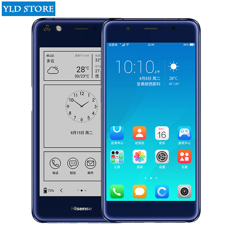 """Hisense A2 Pro double screen mobile Smartphone 4G LTE FDD 5.5""""Color 64GROM Cell phones curved cellular telephone NFC fingerprint"""