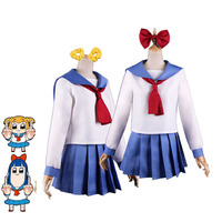 Anime Pop Team Epic Poputepipikku Popuko Pipimi Cosplay Costumes Girls School Uniforms Halloween Party Outfit Custom