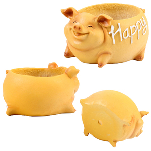 Image 4 - NEW Creative Resin Flower Pot for the Mascot of the Year of the Pig in 2019 planters for succulents succulents pots gift ideas
