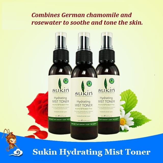 3 UNIDS Sukin Niebla Hidratante de Tóner Aerosol Parabenos calidad de La Piel de TÓNER Hidratante Niebla todo tipo de USO de la piel Natural Eficaz orgánicos