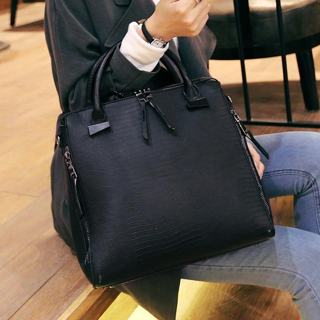 2017 lizard pattern women genuine leather bag cowhide leather crossbody Messenger Bag fashion wild shoulder bags handbag 40Z
