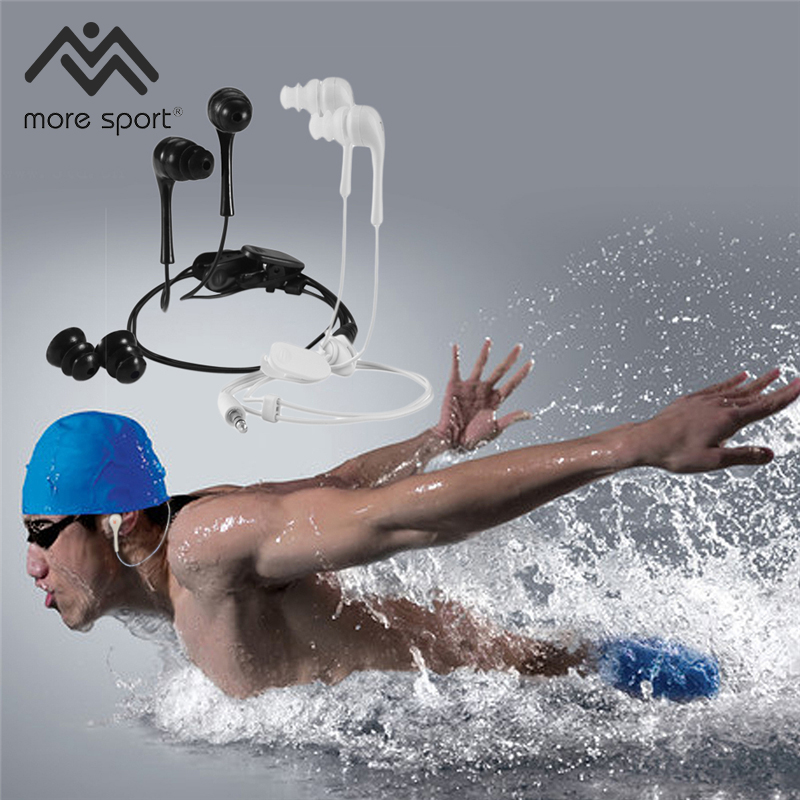 3.5mm Universal in-ear earphone sport sweatband waterproof MP3 headset swimming waterproof earphone headse for mp3 mp4 xiaomi