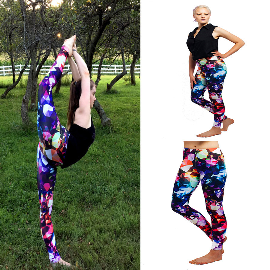 Women Workout Leggings High Elasticity Slimming Pant Fitness Women Colorful Women Pencil Pant Push-up Sporting Leggings Printed