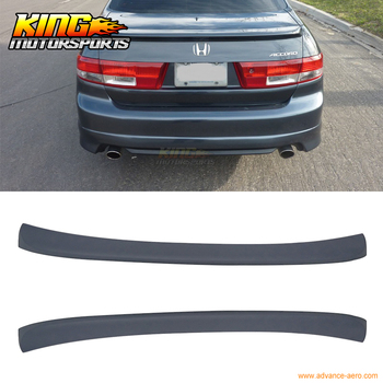Fit For 03-05 Honda Accord 4DR Trunk Spoiler OE Style Gray Primer ABS OE Style USA Domestic Free Shipping