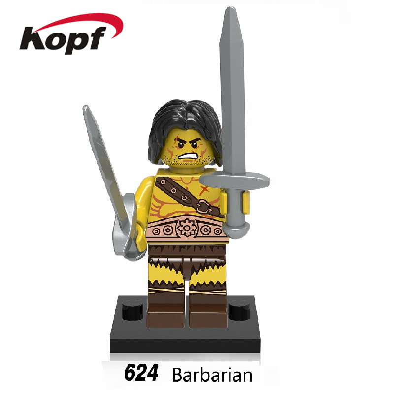 Single Sale Super Heroes Star Wars Medieval Egyptian Warrior Barbarian Atlants Bricks Building Blocks Toys for children XH 624